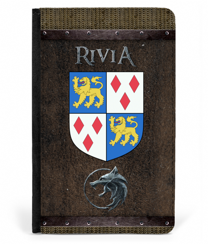 Kindgom of Rivia - Geralt The Witcher Inspired Faux Leather Passport Cover